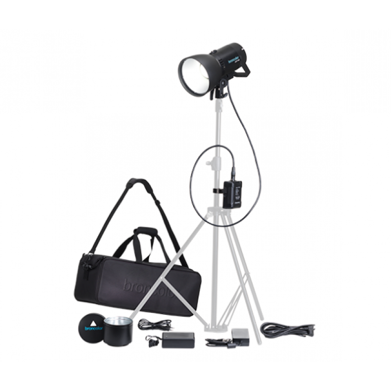 Broncolor LED F160  Versatility Kit + extra V mount battery