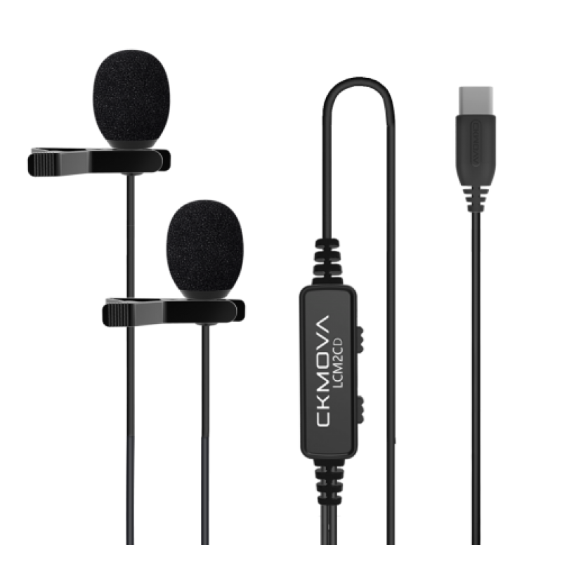 Ckmova LCM2CD Dual-Head Lavalier Microphone for USB Type-C Devices