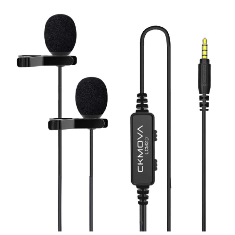 Ckmova LCM2D Dual-Head Lavalier Microphone