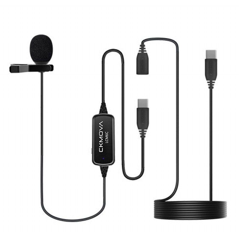 Ckmova LCM6C Lavalier Microphone for USB Type-C Devices