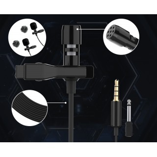 Synco Lav-S6D Wired Double Lavalier Microphone