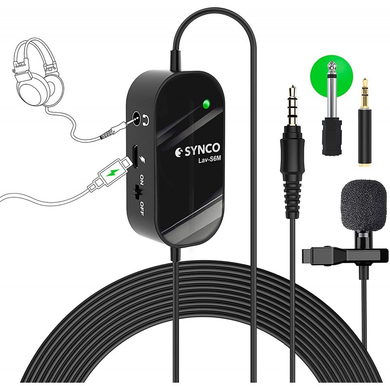 Synco Lav-S6M Wired Lavalier Microphone